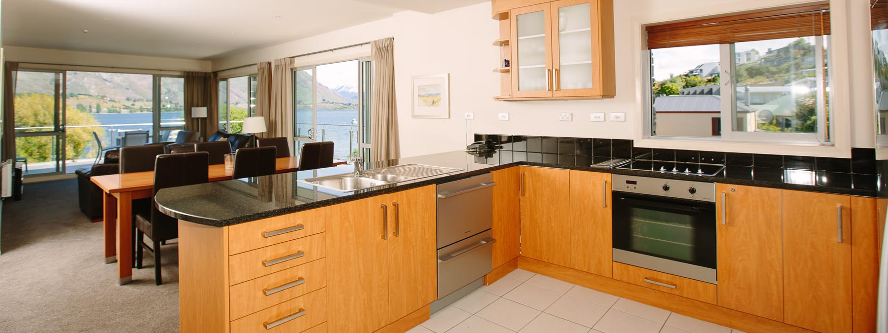Lakeside Apartments Wanaka Luxury Serviced Apartments Kitchen Wanaka Accommodation