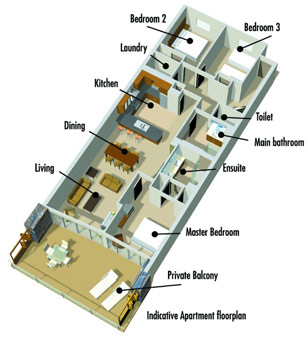 Typical Lakeside Apartment Layout